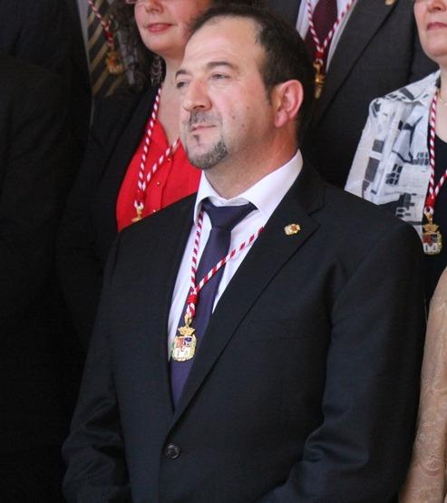 El  presidente de la Diputación Ramón Millán, momentos después de ser elegido