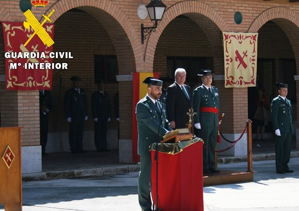 El teniente coronel José Rafael Soler en el momento de jurar su cargo