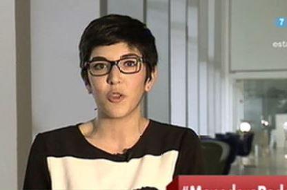 Una imagen de Violeta Barba en un programa de television