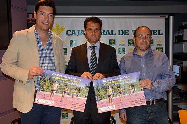 Javier Domingo, Juan Mangas y Javier Cortés esta mañana en la presentación