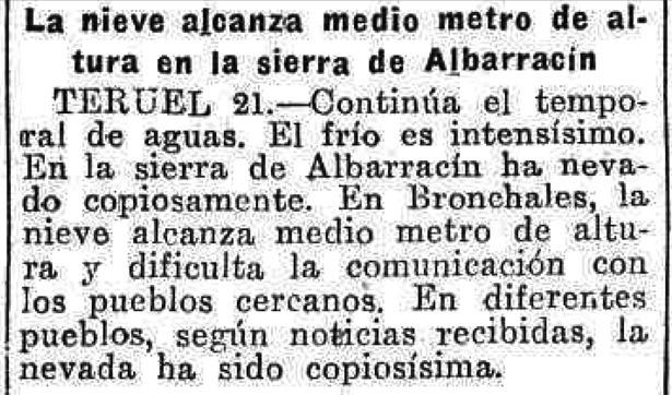 El verano de 1932 no fue precisamente caluroso; noticia del 21 de julio reflejada en varios periódicos nacionales.