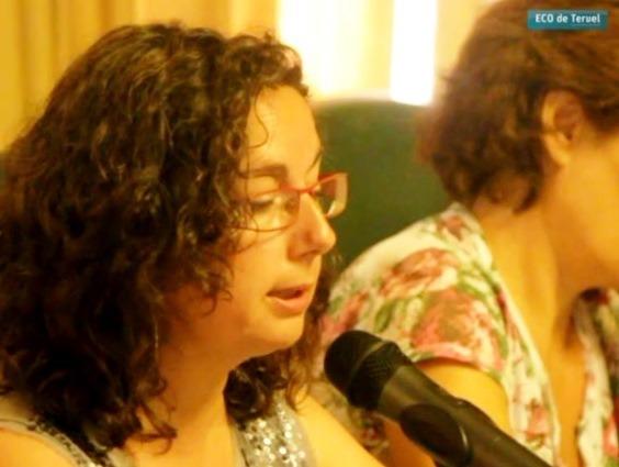 En la imagen, la portavoz de Ganar Teruel, Anabel Gimeno