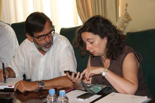 Anable Gimneo (Ganar Teruel) y Paco Martín(CHA)