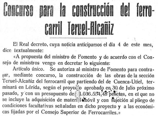 Esperanzadora noticia de un día como hoy el año 1926, un esperado proyecto que desgraciadamente no culminaría con éxito.