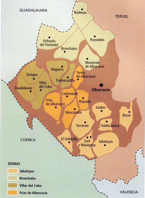 Con el Privilegio de Separación de 1689, las aldeas de Albarracín dejaban de estas supeditadas a la ciudad, equiparándose a las de las comunidades de Daroca, Teruel y Calatayud (dibujo: www.nogueranaturalmente.com)