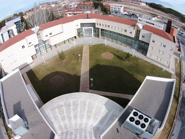 Imagen aérea del Campus de la Universidad en Teruel