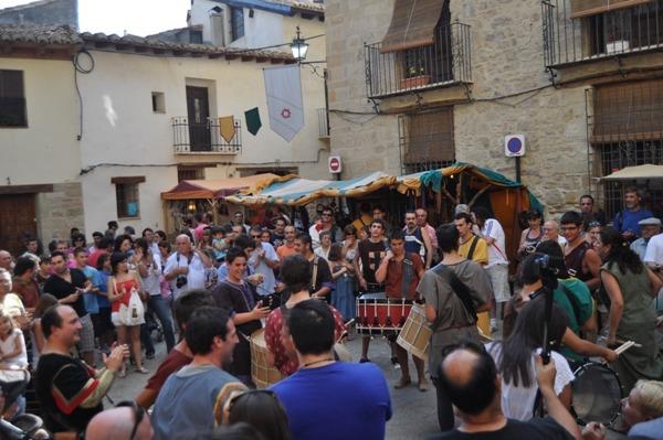 Una imagen de archivo del fin de semana medieval de Rubielos de Mora