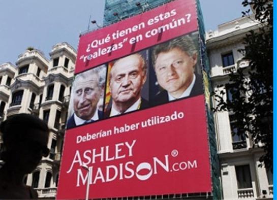 Uno de los anuncios del portal de citas Ashley Madison