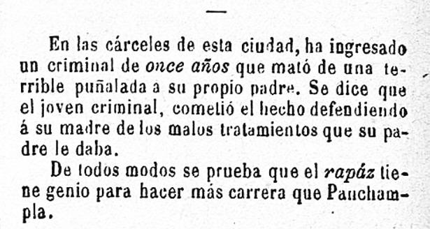 """En 1893 incluso los niños eran recluidos en la cárcel, como muestra esta noticia publicada tal día como hoy por nuestro homónimo """"Eco de Teruel"""" (Biblioteca Virtual de Prensa Histórica)."""