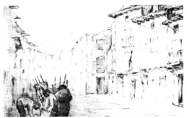 La calle Mayor del Arrabal fue escenario de un chusco suceso en 1903.