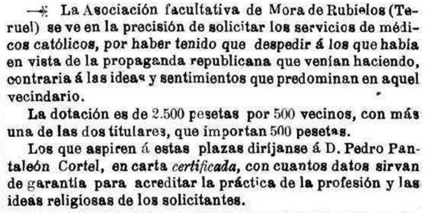 """Curioso reclamo publicado hace 90 años en el semanario católico """"La Lectura Dominical"""" (Hemeroteca Digital del Ministerio de Cultura)."""