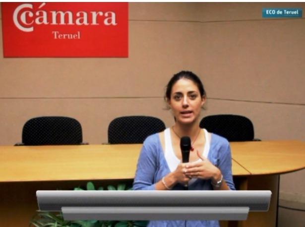 En la imagen, la Directora de Formación de Cámara Teruel, Ana Martinez