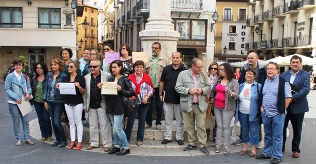 Imagen de los representantes de algunas de las entidades convocantes de la Concentración del domingo