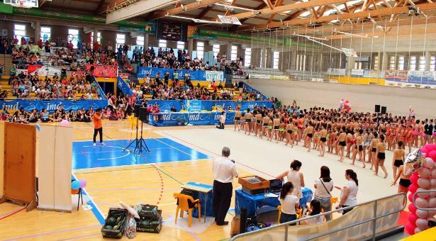Una imagen del Pabellón Municipal de El Ejido, donde se celebrará la final de la Supercopa de Voley