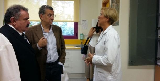 El Consejero Celaya, en su visita de hoy a Alcañiz