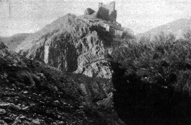 """Alcalá de la Selva y su castillo protagonizan las efemérides más antiguas del día de hoy. La foto fue publicada por """"Heraldo Deportivo"""" en 1919 (Hemeroteca Digital)."""