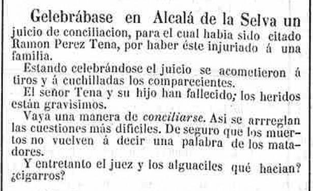 """El crimen de los Tena, en Alcalá, llamó la atención de toda España. El recorte es de """"Eco de Navarra"""" (Hemeroteca Digital)."""