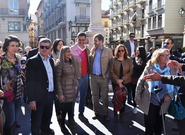 Sánchez, en la plaza del Torico
