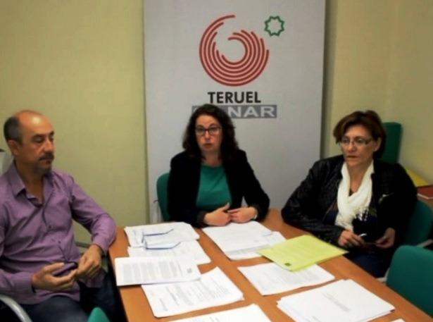 En la imagen, y de izquierda a derecha , los concejales de Ganar Teruel, Torralba, Gimeno y Tortajada