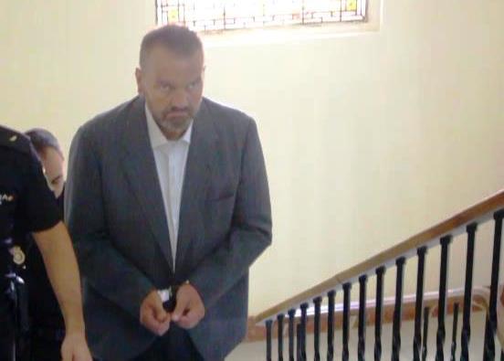 Imagen del acusado a su llegada a la Audiencia Provicncial