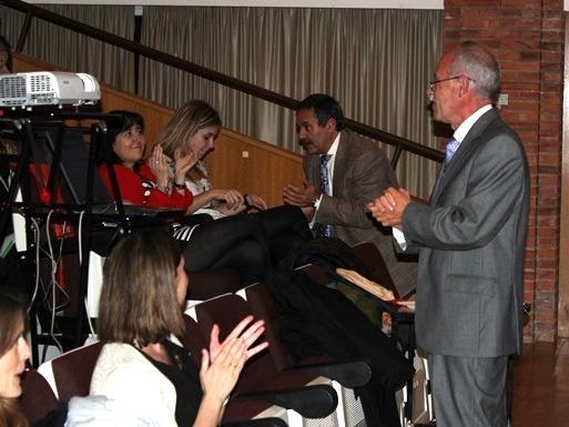 En la imagen,a la derecha de pie, el doctor Labay en las jornadas de Pediatría que se celebran en el Hospital Obispo Polanco