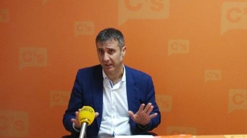 En la imagen, ramiro Dominguez, diputado en Cortes de Aragón de Ciudadanos y responsable de esta formación en la provincia de Teruel