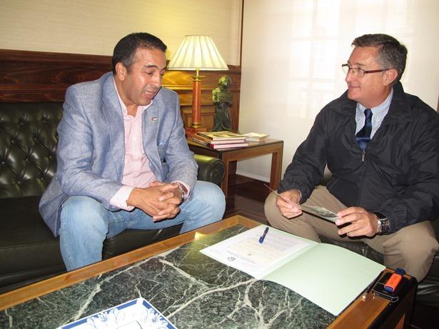 Visita delegado saharaui