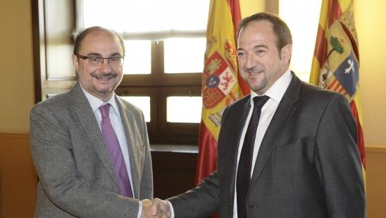 El Presidente de Aragón, Javier Lambán ha recibido al presidente de la Diputación Provincial de Teruel, Ramón Millán
