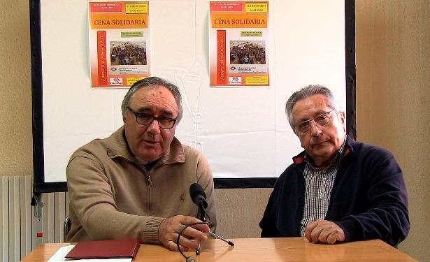 En la imagen los parrocos Blas Sanz, a a izquierda y José A.Torrubiano