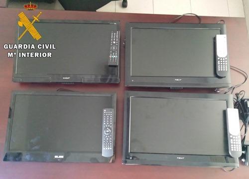 Una imagen de los cuatro televisores robados