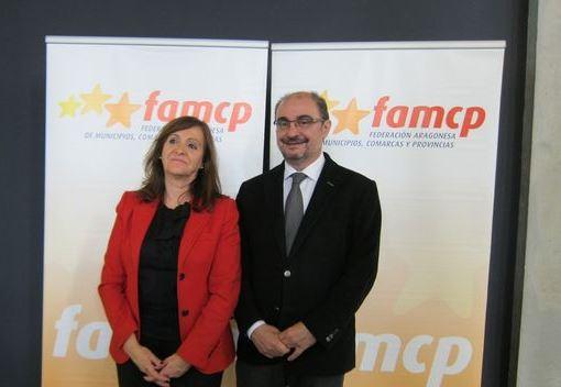 En la imagen, Carmen Sanchez y Javier Lamban