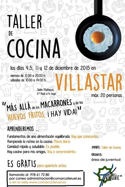 Varios comarca taller de cocina en villastar i jornadas for Taller de cocina teruel