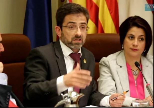 Una imagen del debate de ayer en la Diputación