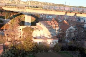 Una imagen del antiguo Asilo de San Julián , tomada desde el Viaducto viejo