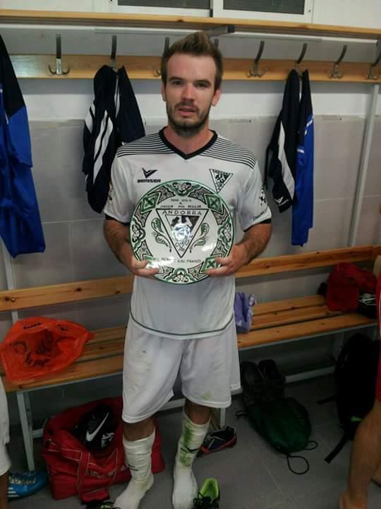 Sergio Lou, en una imagen de archivo del Andorra CF