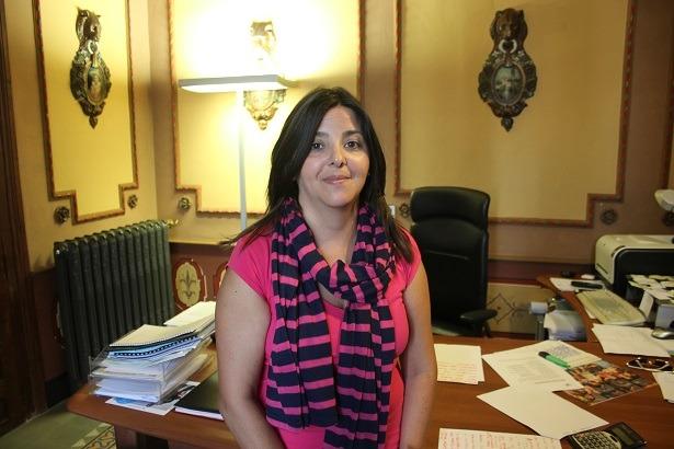 La presidenta de la Comarca Comunidad de Teruel, Ana Cris Lahoz, esta misma mañana