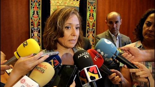 La Consejera de Educación , Maite Perez , esta mañana