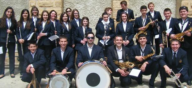 Una imagen de los componentes de la Banda de Rubielos de Mora
