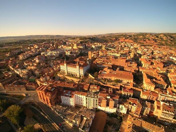 Una vista aérea de Teruel