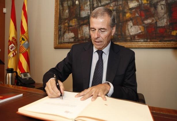 En la imagen el Presidente dimisionario de las Cortes de Aragón , Antonio Cosculluela