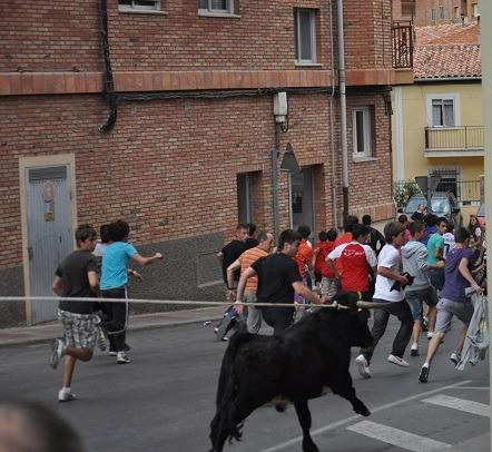 Una imagen de archivo de los ensogados que se celebran en el Barrio de San León