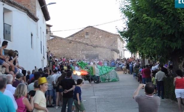 Hasta dragones vomitando fuego se pudieron ver en Royuela