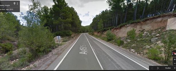 Una imagen de Google Maps de la carretera Autonómica A- 1515