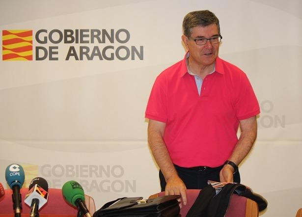En la imagen de esta mañana, el Consejero Vicente Guillén