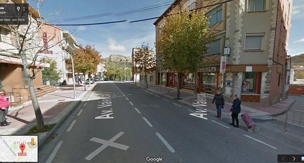 En la imagen de Google Maps , una vista de la Pastelería La perla  de Utrillas , donde se vendió el premio