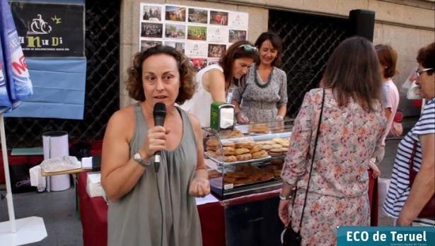 En la imagen, el puesto de ANUDI en la Feria de saldos