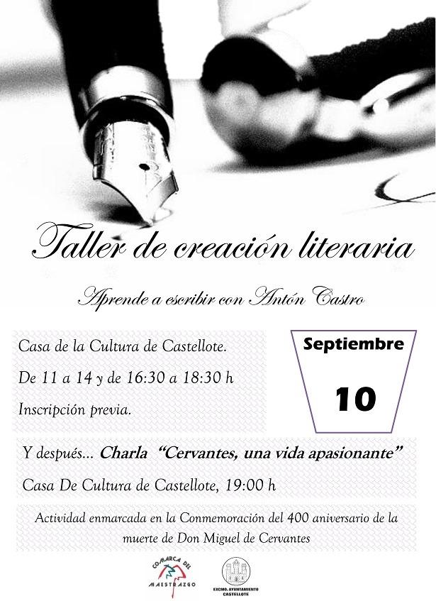 Cartel Taller literario 10 sept