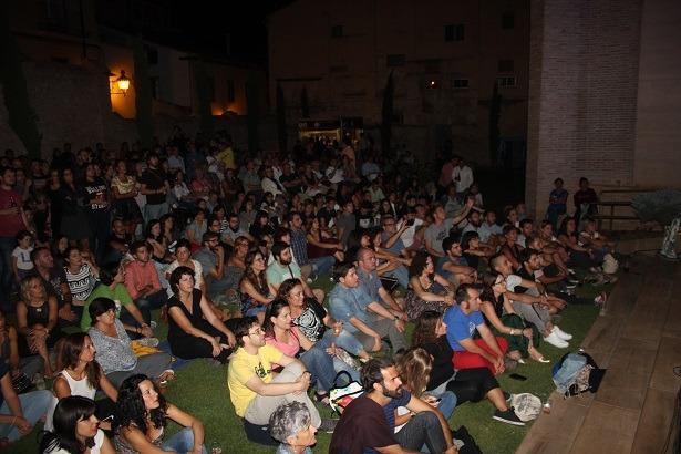 Imagen que ofrecian los Jardines de San Pedro durante la actuación de Xoel López