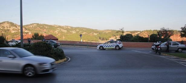 Una imagen del control del uso del Cinturón que realizó la Policía local de Teruel que ya les contamos  la semana pasada