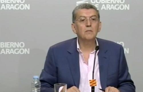 El Consejero de Sanidad del Gobierno Aragones, Sebastián Celaya